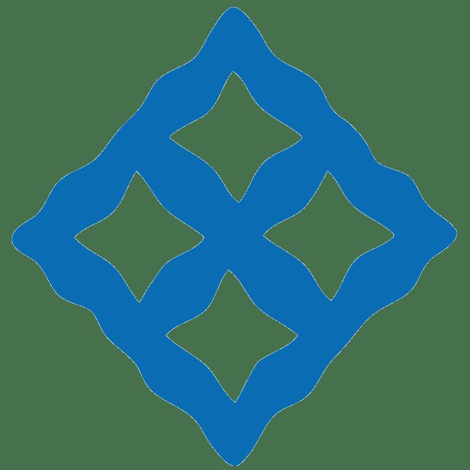 EBAN Adinkra symbol large blue
