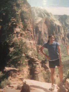 Christina Ogunsuyi: Location- Angels Landing at Zion National Park, Utah