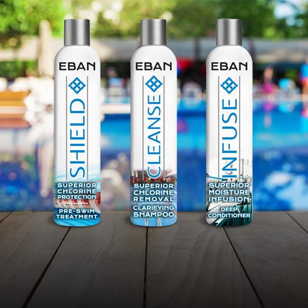 EBAN Shield, Cleanse, Infuse - Swimmer's Complete Hair Care System