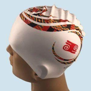 Warrior swim cap on manequin