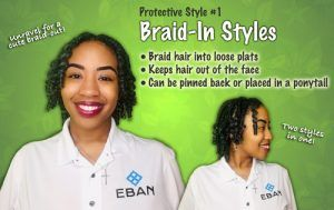 Protective Hairstyles braid in styles