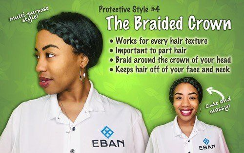 Protective hairstyle Braided Crown