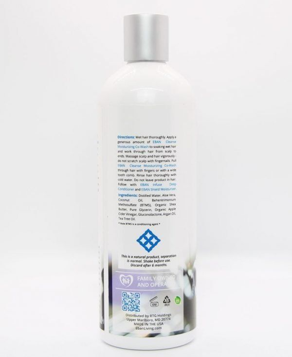 EBAN co wash for natural hair directions
